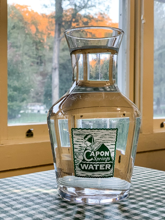 Capon Springs spring water