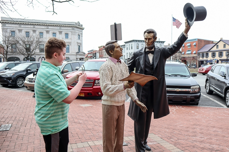 Abraham Lincoln in downtown Gettysburg
