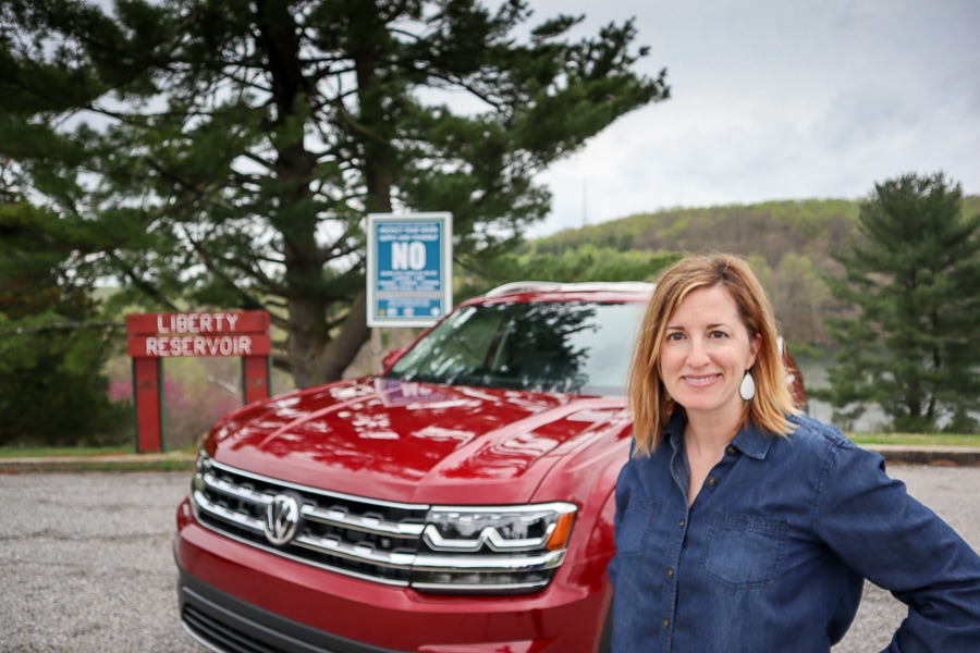 Me and the 2019 VW Atlas at Liberty Dam
