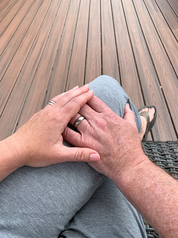 Holding hands is sometimes easier than sex over 40