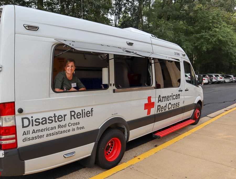 American Red Cross provides supply trucks to areas hit by disasters