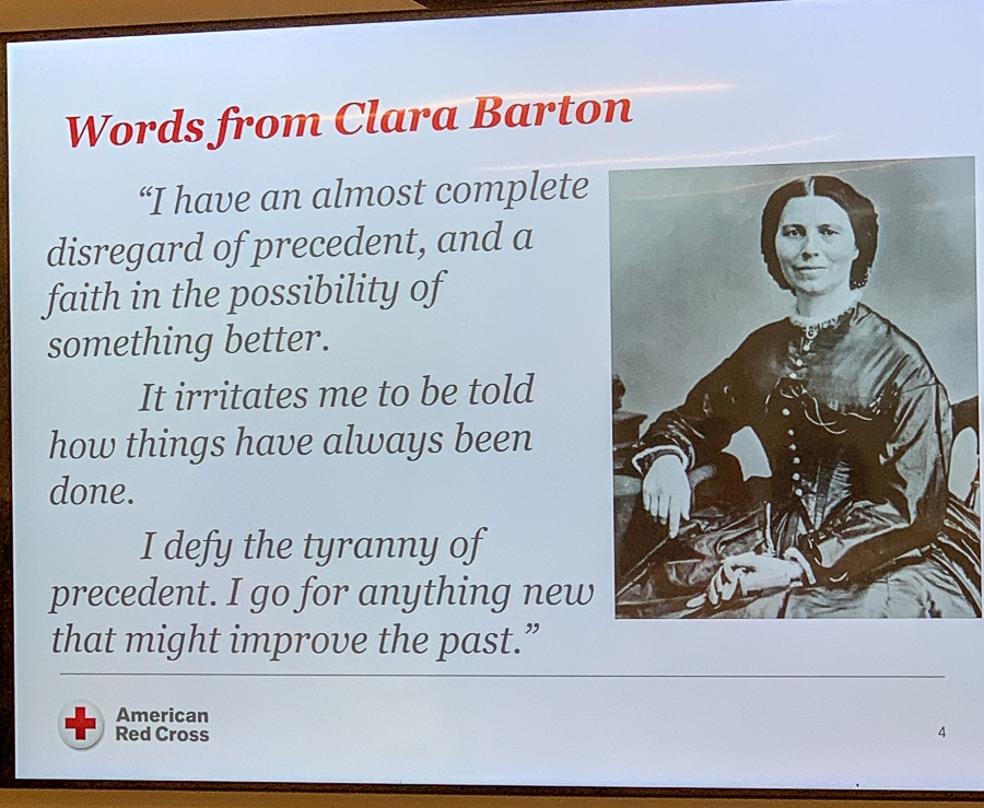The best quote from Clara Barton