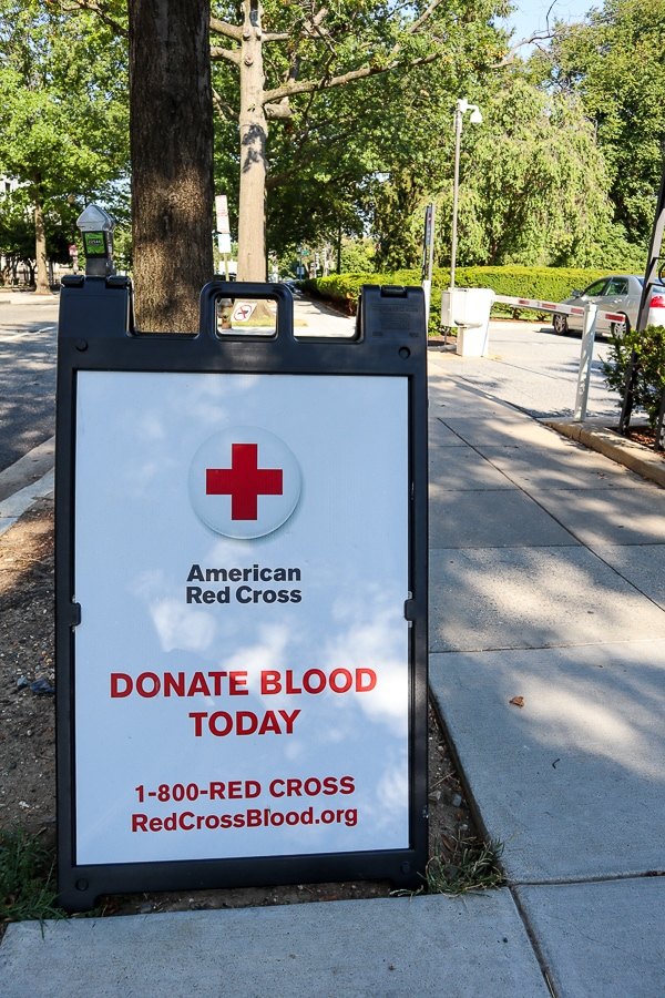 American Red Cross blood donation