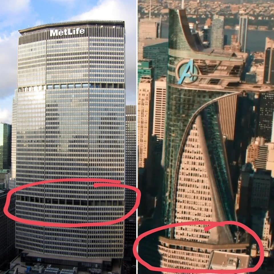 How the MetLife building was used in the Avengers