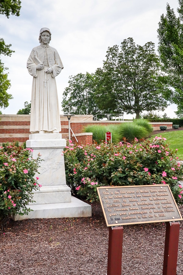 Elizabeth Seton Shrine statue