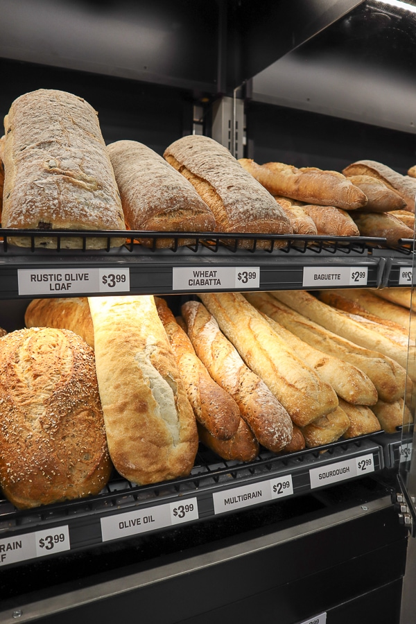 Fresh bread at Giant