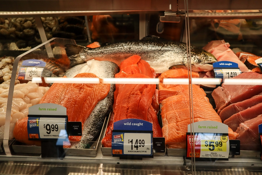 Fresh seafood at Giant