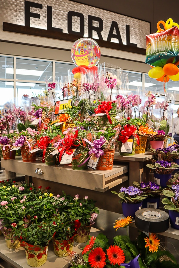 Floral department at Giant