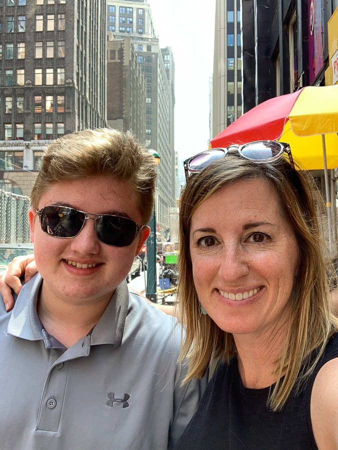 Mother son trip to NYC