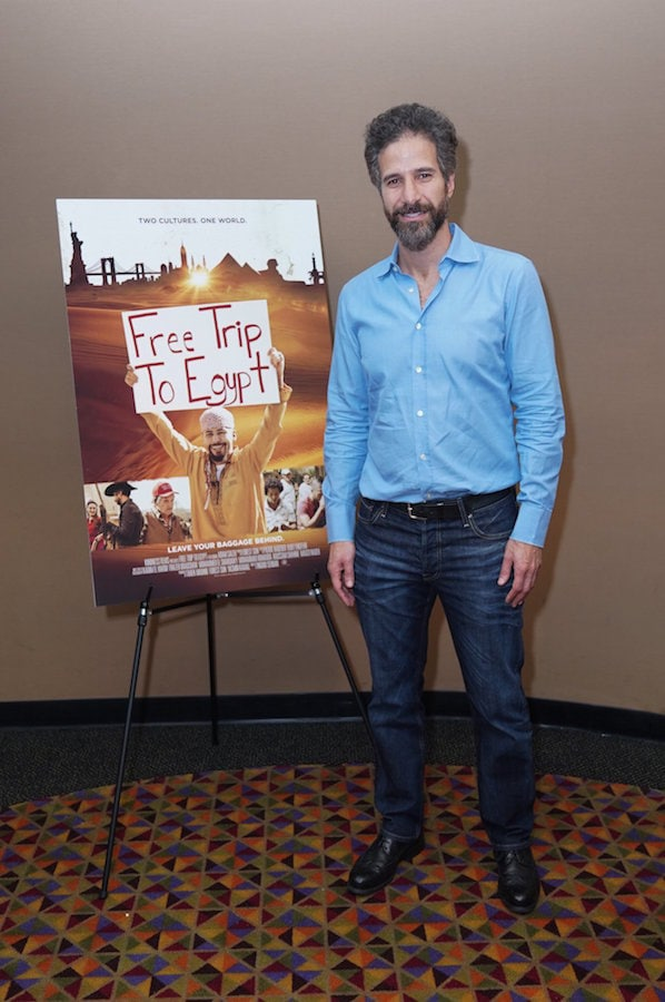 Tarek Mounib at a screening of Free Trip to Egypt