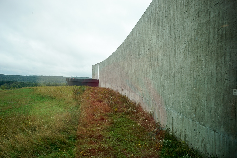 Overlook at the Flight 93 Visitor Center Complex
