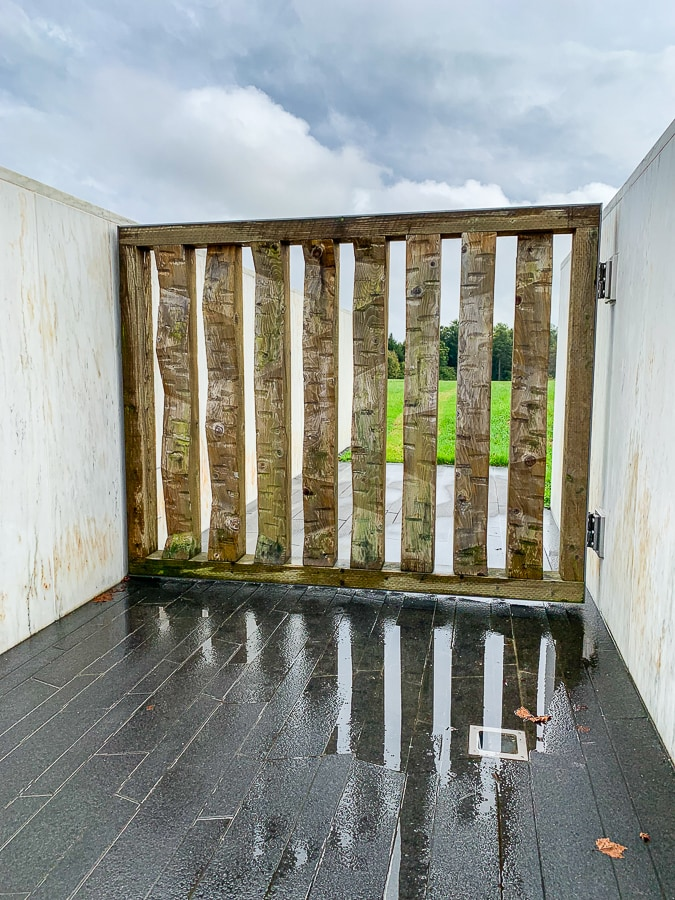 Flight 93 ceremonial gate gives visitors a view of the impact site
