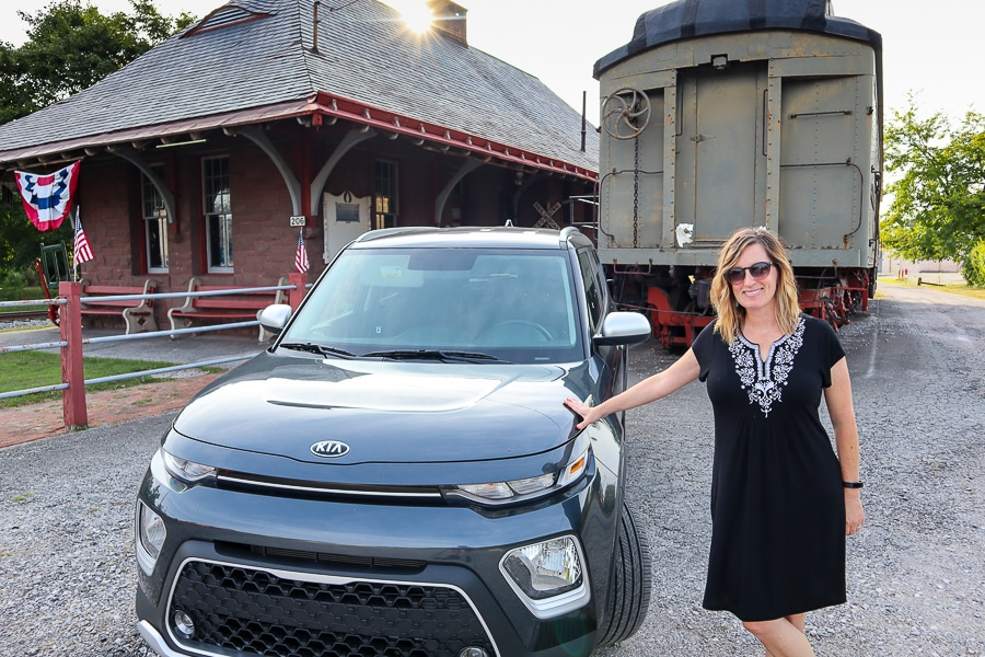 Kia Soul at the New Oxford Train Station and Museum