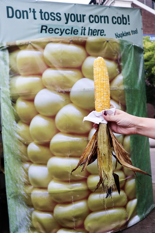 Corn on the cob at the fair