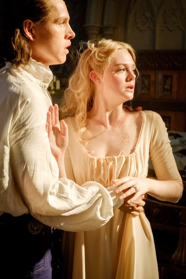 Harris Dickinson is Prince Phillip and Elle Fanning is Aurora