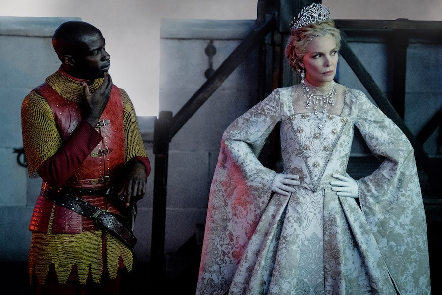 Michelle Pfeiffer is Queen Ingrith and David Gyasi is Percival