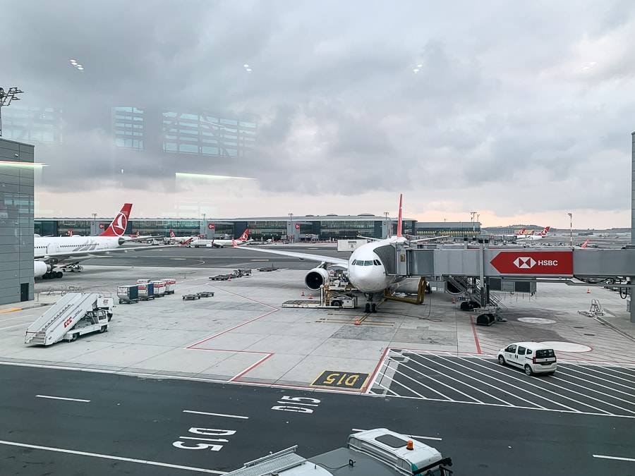 At the Istanbul airport
