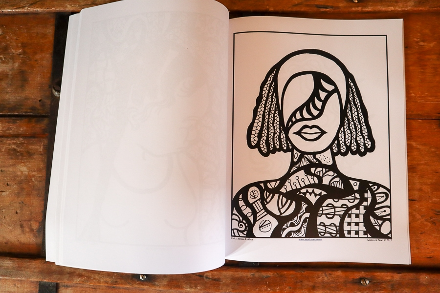 A Noel Creates Art - Kinks, Perms & Afros Coloring Book