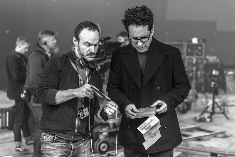 Chris Terrio and J.J. Abrams on the set of STAR WARS:  THE RISE OF SKYWALKER