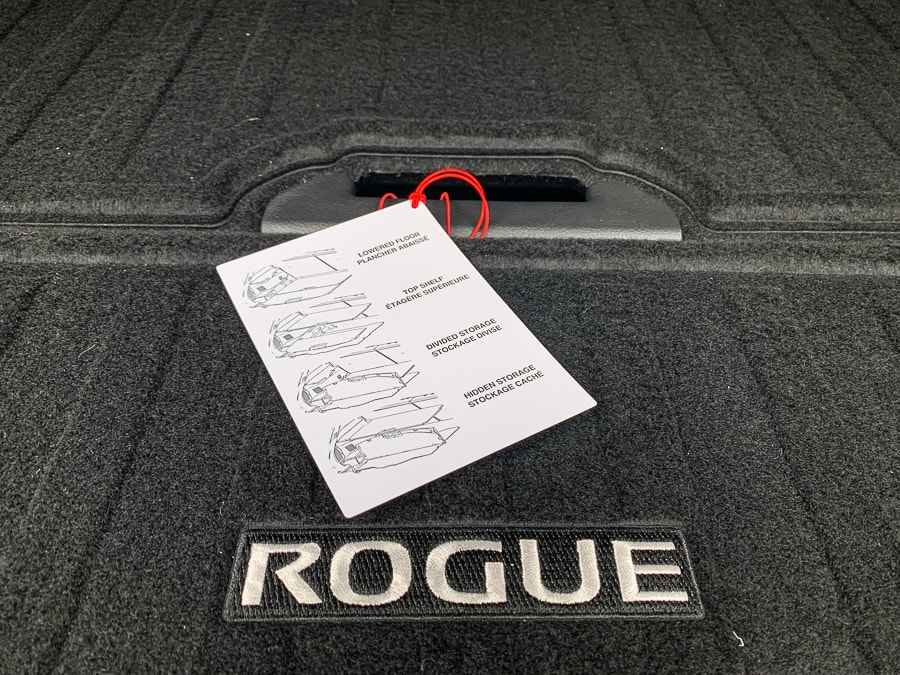 Nissan Rogue Divide N Hide System takes a little work but gives you a lot of versatility.