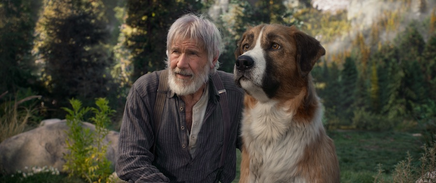 Harrison Ford and Buck in The Call of the Wild