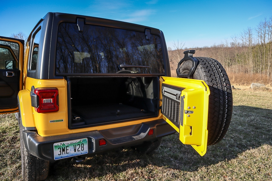 Jeep Wrangler rear door