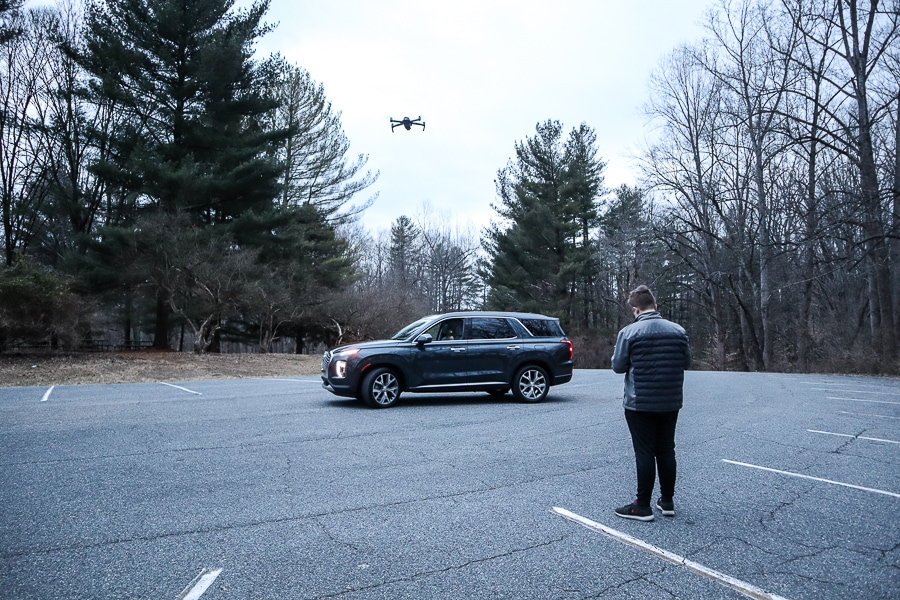 Getting drone footage of the Hyundai Palisade
