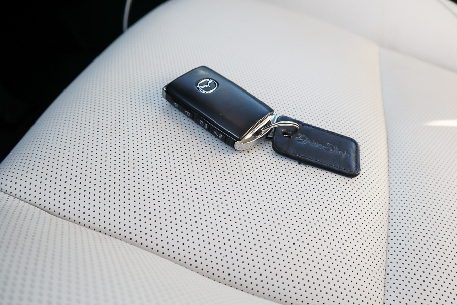 Mazda3 key fob and leather seats