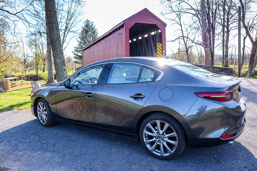 Mazda3 at Loys Station Covered Bridge