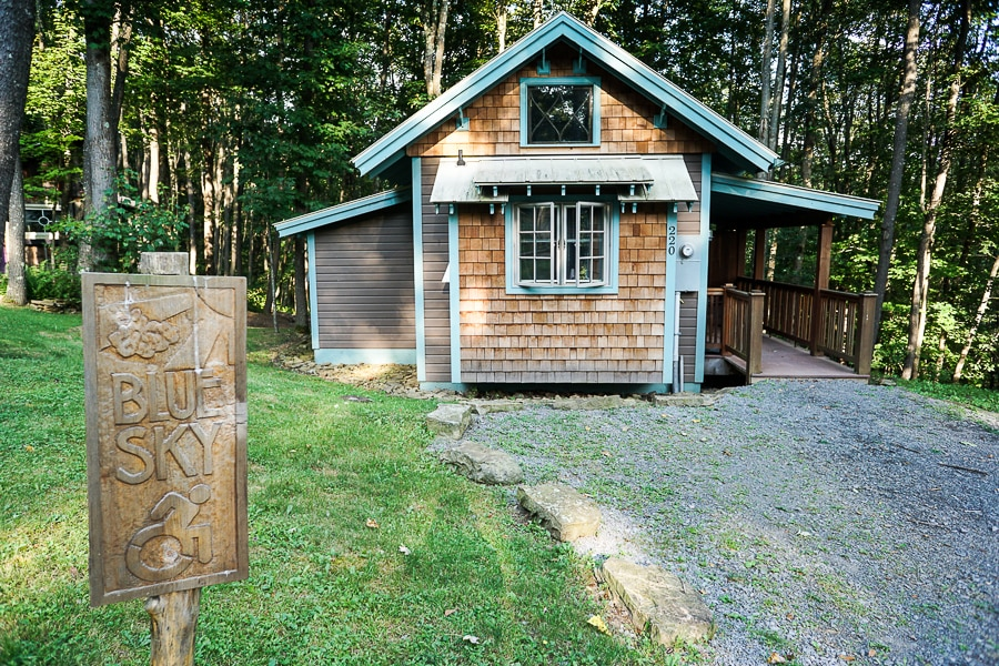 Blue Sky cabin, which is handicap accessible, at Blue Moon Rising