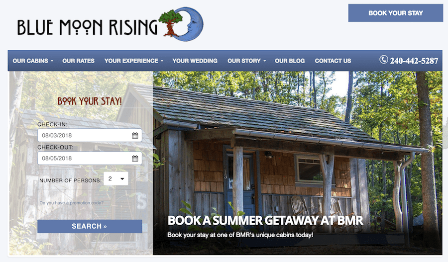 Book your stay at Blue Moon Rising