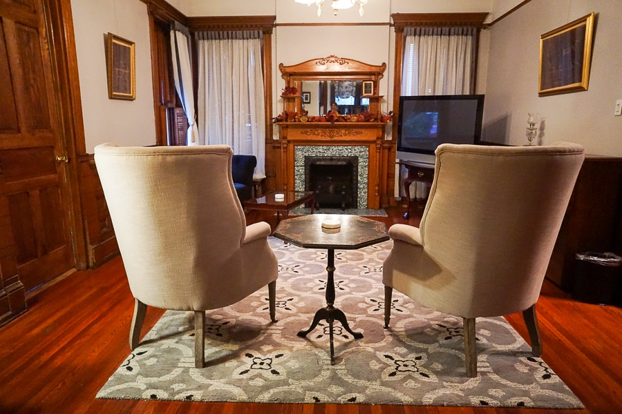 There are small TVs in each room but a large TV is available for viewing in the downstairs sitting room.