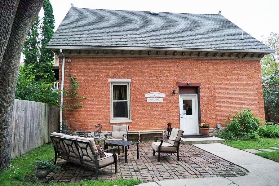 Thompson Candle Co. runs a gift shop in the old carriage house