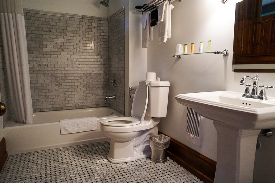 My private bathroom was fully modernized but still flowed with the historic character of the house
