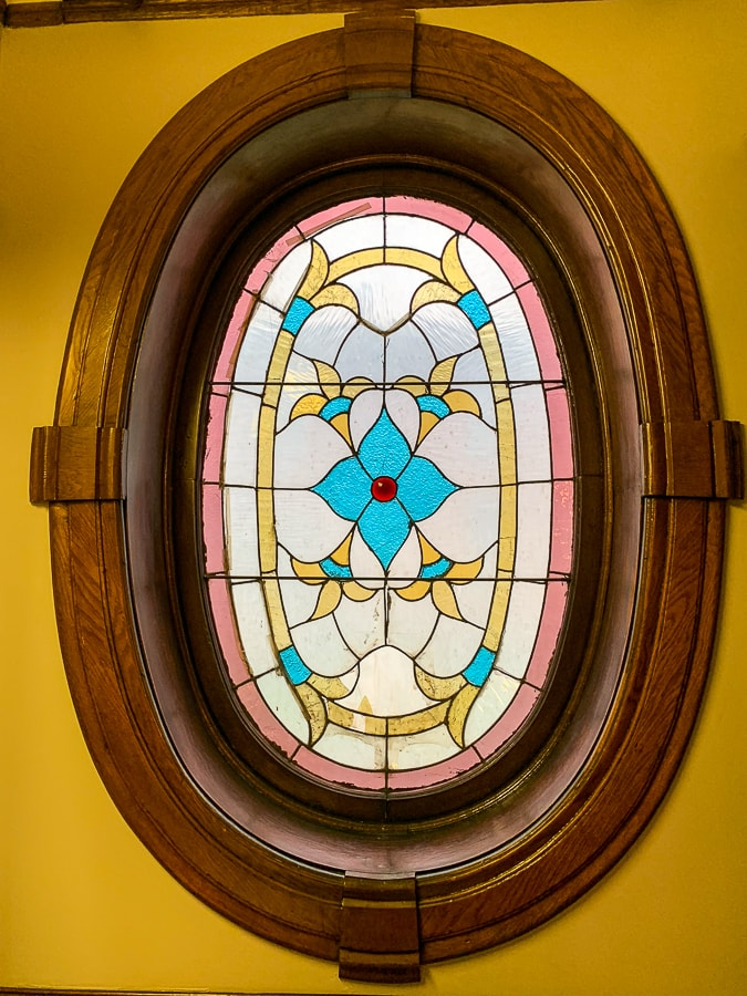 stained glass in Gage Mansion