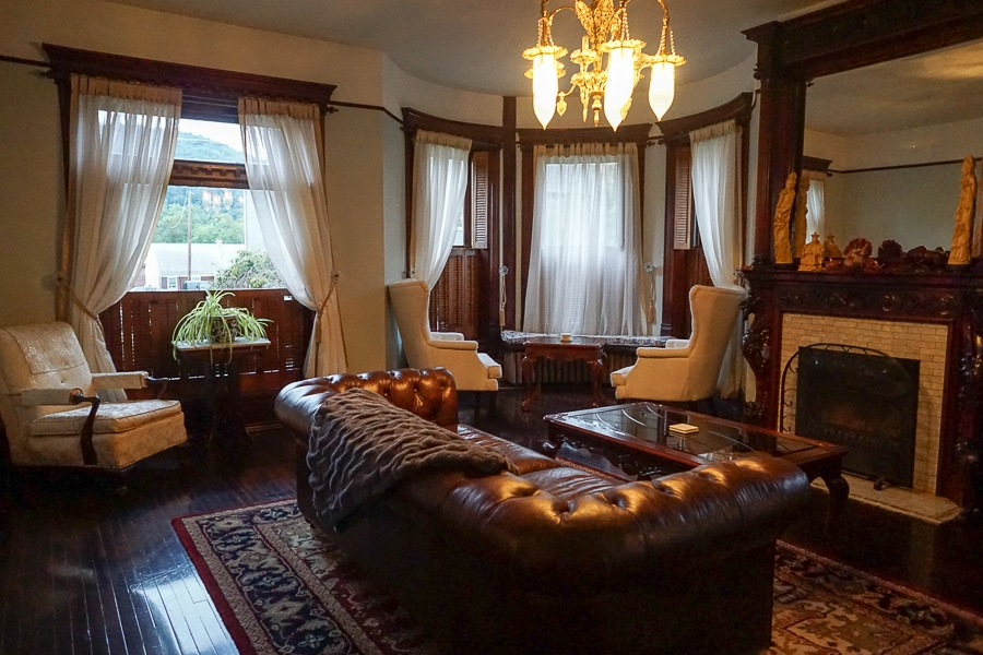 The parlor is perfect for socializing or game playing.