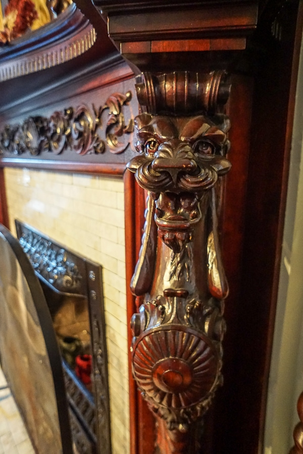 original wood carvings are still intact