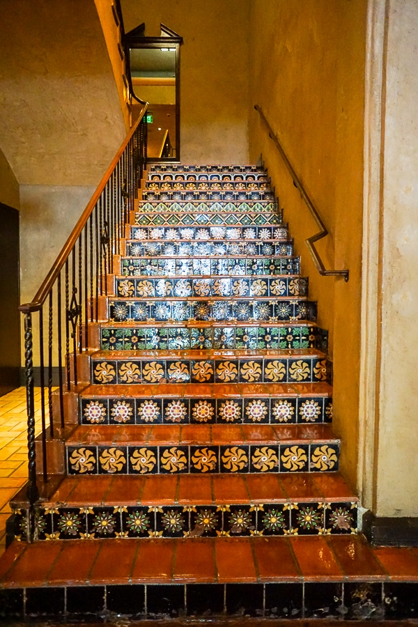 The Spanish tile stairs exuded old California style