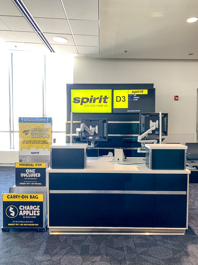 Gate for Spirit Airlines