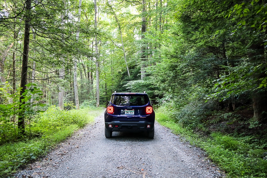 Underdeveloped roading in the Jeep Renegade Trailhawk