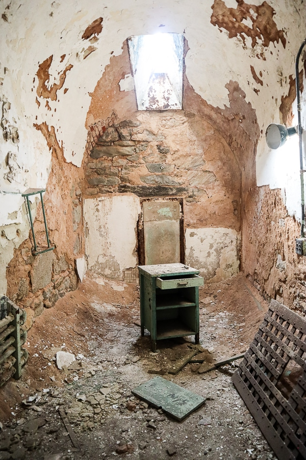 Furniture left in a cell block