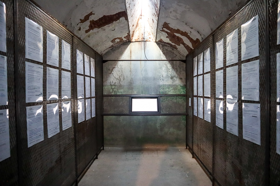 Art installation on solitary confinement