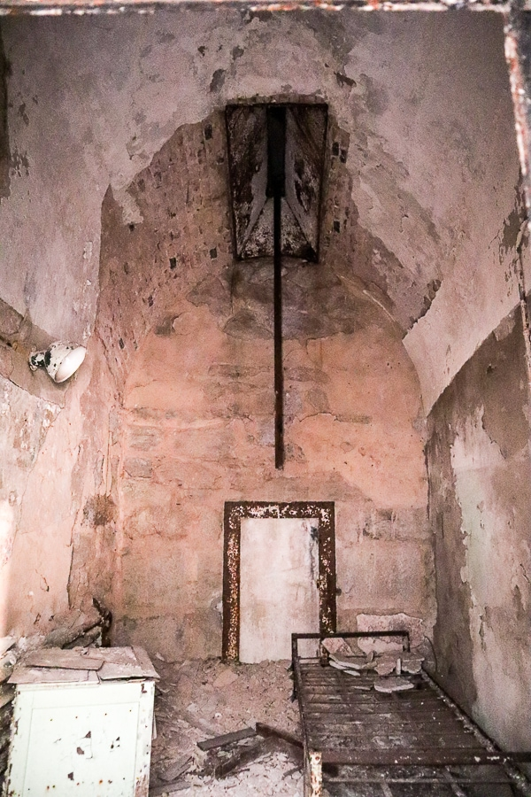 one of the original prison cells