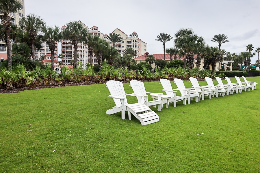 Chairs overlooking the beach