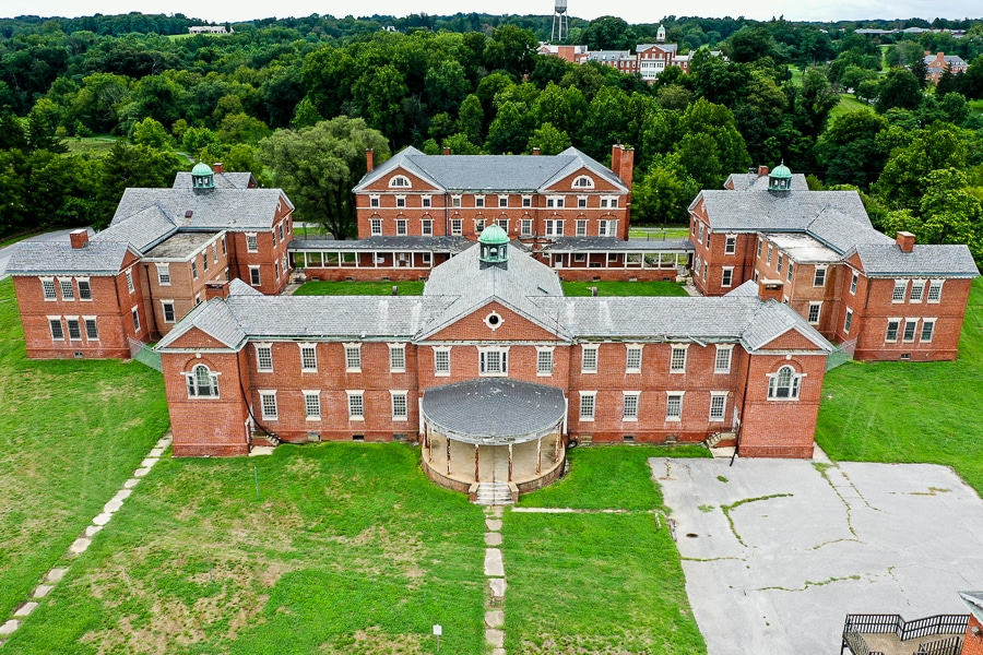 The remains of the Springfield Mental Hospital
