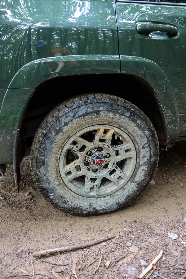TRD Alloy Wheels AFTER off-roading