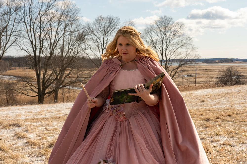 Jillian Bell as Eleanor in GODMOTHERED, exclusively on Disney+.
