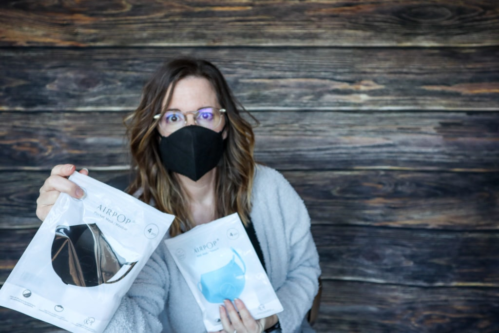 AirPop face masks are available for adults and kids