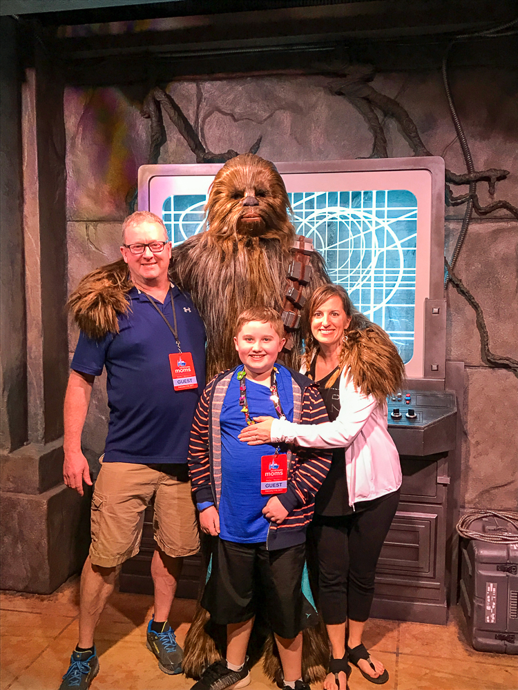 Meeting Chewbacca as a family