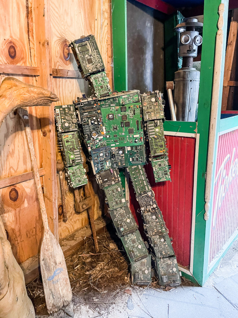 """A """"robot"""" made of circuitry"""